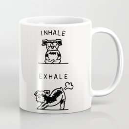 Inhale Exhale Schnauzer Coffee Mug