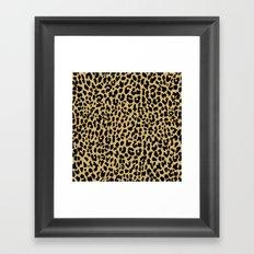 Neon Classic Leopard Framed Art Print