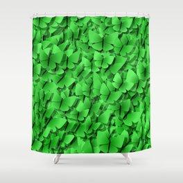green butterflies  Shower Curtain