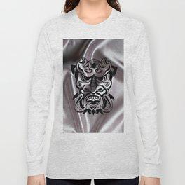Vicious Tribal Mask on silk 015 Long Sleeve T-shirt
