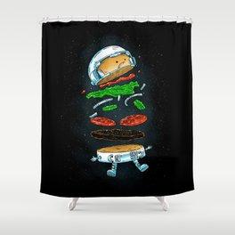 The Astronaut Burger Shower Curtain