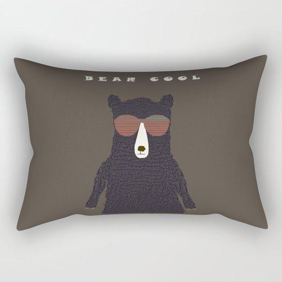 bear cool Rectangular Pillow