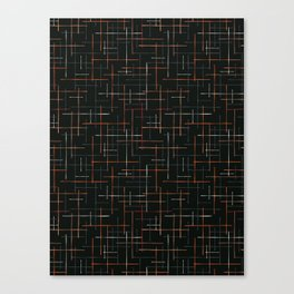 Abstract Criss Cross Lines Seamless Canvas Print