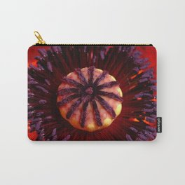 Red Poppy detail Carry-All Pouch