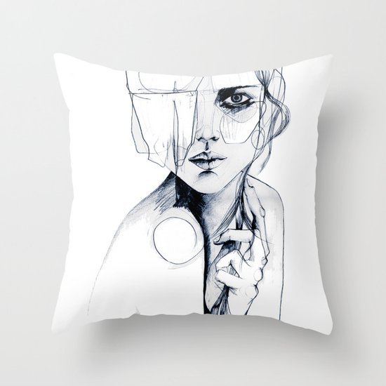 Sketch V Throw Pillow