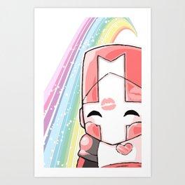 Castle Crashers Pink Knight Art Print