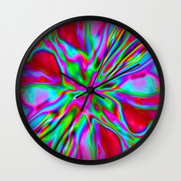 Red Foil Radiance Wall Clock