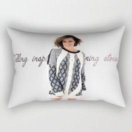 Telling inspiring stories Rectangular Pillow