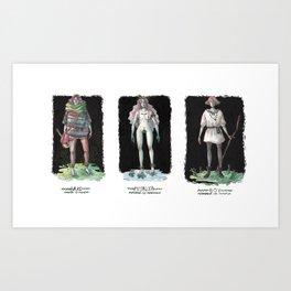 Folklore / Rusalka, Bard and the Boy Art Print