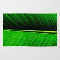 leaf Area & Throw Rugs featuring Leaf by Melanie Ann