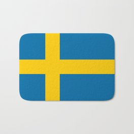 Flag of Sweden - Authentic (High Quality Image) Bath Mat