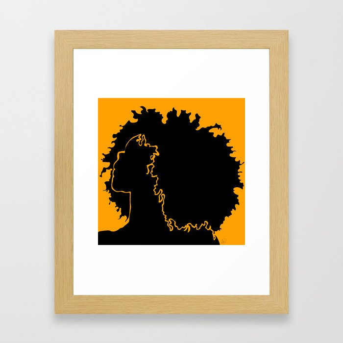 ceb28d95c6a8 gold Framed Art Print by smwvisuals