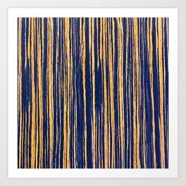 Vertical Scratches on Royal Purple Metal Texture Art Print