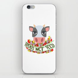COW, FRIENDS NOT FOOD iPhone Skin