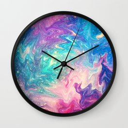 COLORFUL LIQUID MARBLE Wall Clock