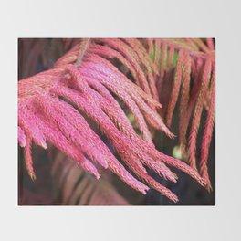 Alien pink wird plant forest Throw Blanket