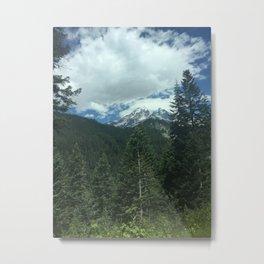 Mount Rainier in the Clouds Metal Print