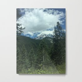 Mount Rainier in the Clouds Metal Print