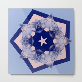 Tilting Serenity Rose Quartz Star Metal Print