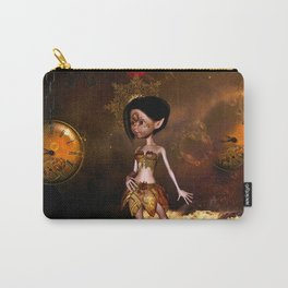 Steampunk, cute little steampunk girl Carry-All Pouch