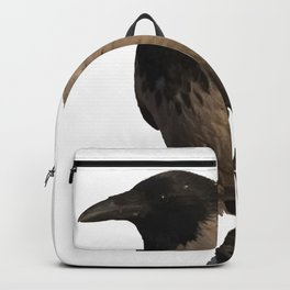 Hooded Crow Isolated Backpack