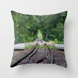 Forest Railroad Throw Pillow