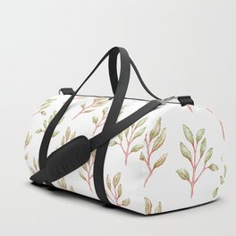 Modern coral green hand painted watercolor floral pattern Duffle Bag