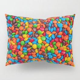 Colorful Candy-Coated Chocolate Pattern Pillow Sham