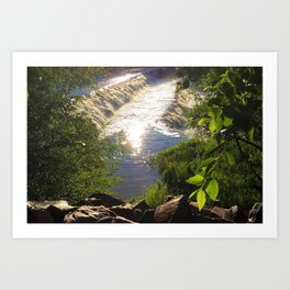 Shimmering Sun Rays on Colorado Springs Art Print
