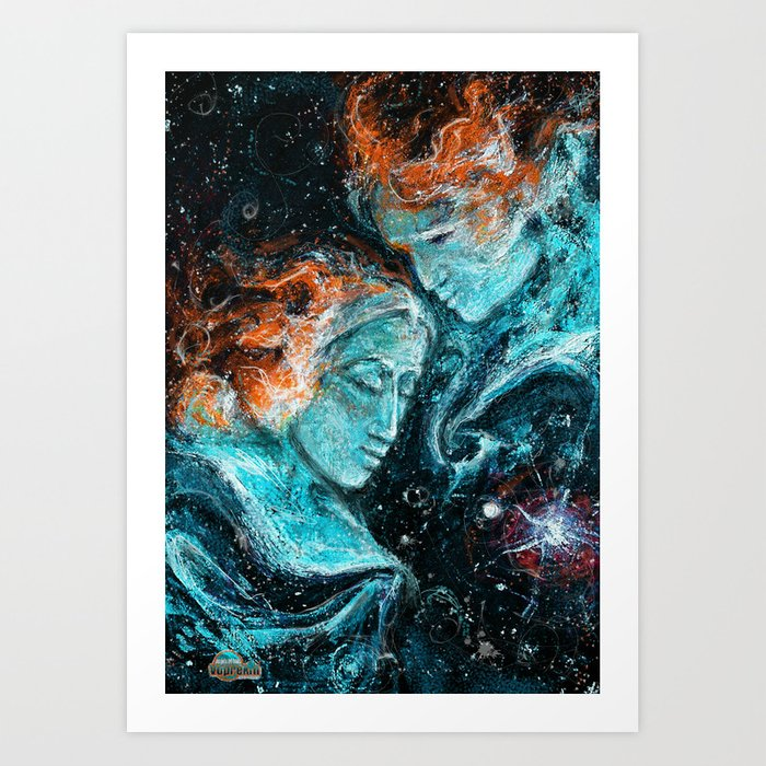 Across the Space Art Print