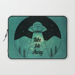 """Take Me Away"" UFO (Colour) Laptop Sleeve"