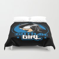 gotham Duvet Covers featuring Gotham Girl by Buby87