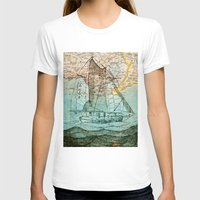 sailboat T-shirts featuring Mom's Sailboat by Brittany Rae