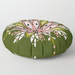 Psychedelic Mandala – Sage & Pink Floor Pillow