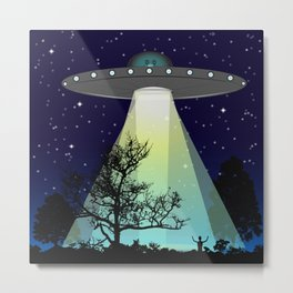 Beam me up...I don't belong here! Metal Print