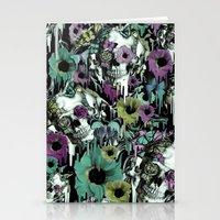 sandman Stationery Cards featuring Mrs. Sandman, melting rose skull pattern by Kristy Patterson Design