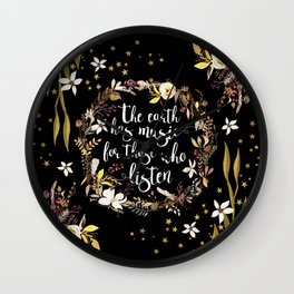 Stars Earth Music Wall Clock