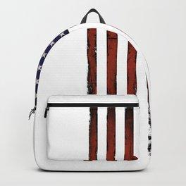 Grunge American flag Backpack