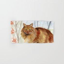 Ginger Cat Hand & Bath Towel