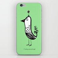 korean iPhone & iPod Skins featuring korean alphabet bird by lemonluna
