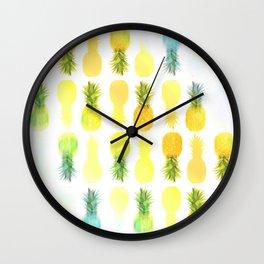 Pineapple Glow Wall Clock