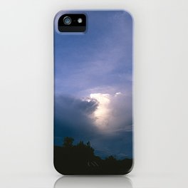 Ray of Hope in the Stormy Sky iPhone Case