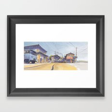 Enoden sketch Framed Art Print