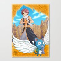 fairy tail Canvas Prints featuring Fairy tail by Rosalys