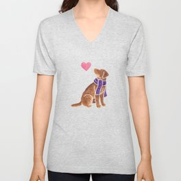 Watercolour Chesapeake Bay Retriever Unisex V-Neck