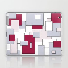Squares - gray, purple, gray and white. Laptop & iPad Skin