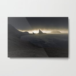 Line of Light Metal Print