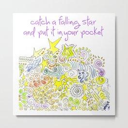 Catch a Falling Star by Sandy Thomson. Metal Print
