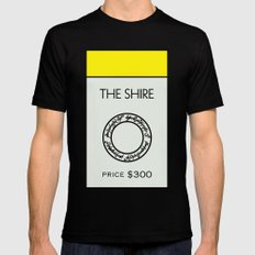 The Shire Monopoly Location Black Mens Fitted Tee MEDIUM