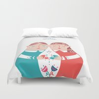sister Duvet Covers featuring Sister by Michela Gaburro